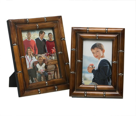 Bamboo & Nickel 4X6 Frame