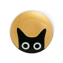 "CAT EYES 4.5"" GLASS DISH - GOLD"