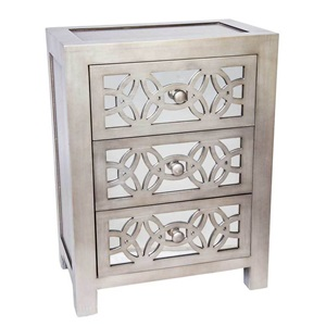 "25.75""H Glam Slam 3 Drawer Cabinet"