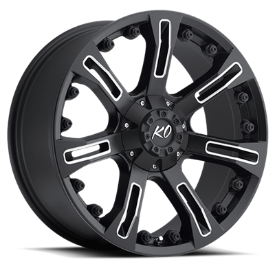 REV Off Road 840 Series 17x9 5x114.3 - Milled/Black