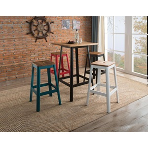 72333 FROSTED TEAL BAR STOOL