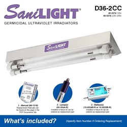 SaniLIGHT D36-2CC Included Accessories