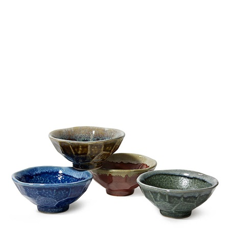 "JEWEL BOULDER 5"" RICE BOWL SET"