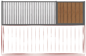 2/3 Side Grill with Vertical Wood Fill