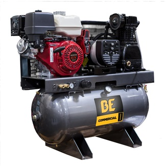 Commercial Series 4,000 W Honda GX390 Engine 19 CFM 30 Gallon Compressor  Generator 2-in-1 Unit