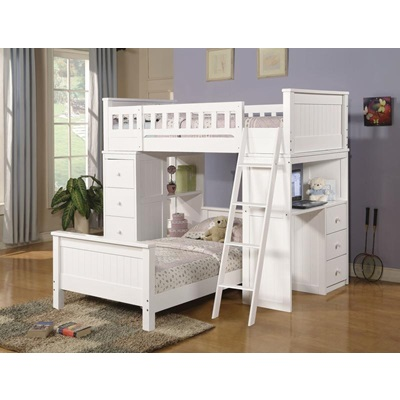 10970A KIT - WHITE LOFT BED