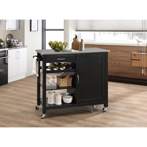 98317 KITCHEN CART W/STAINLESS TOP