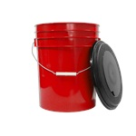 Red 5 Gallon Bucket w/ Lid
