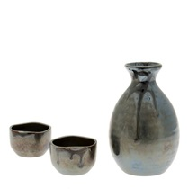 Sake Set Black Luster