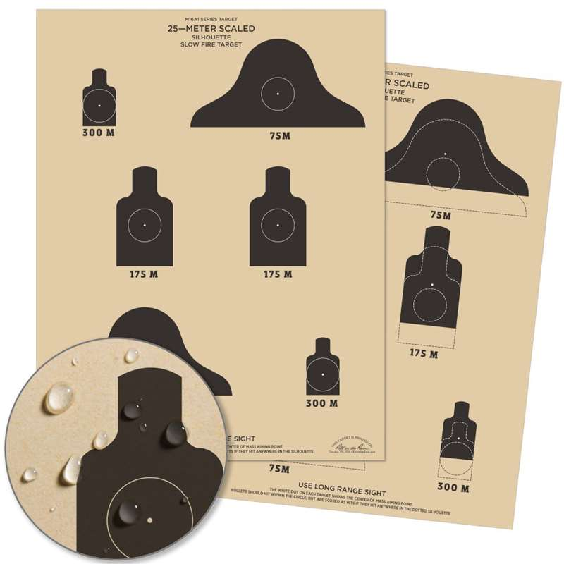 25 METER SLOW FIRE QUALIFICATION TARGET  -  M16A1