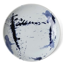 "Blue Sumi 9.5"" Plate"