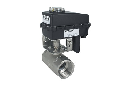 "KZ Valve 1 1/2"" 2-Way Actuated Ball Valve 