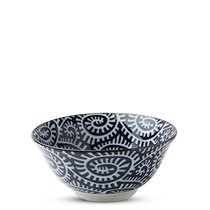 "Blue & White Karakusa 5.75"" Bowl"