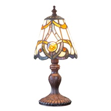 "12.25""H Stained Glass Brandi Accent Lamp"