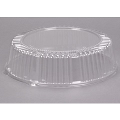 "A12PETDM 12"" CLEAR PLASTIC DOME TRAY LID (2.75"") 25/CS"