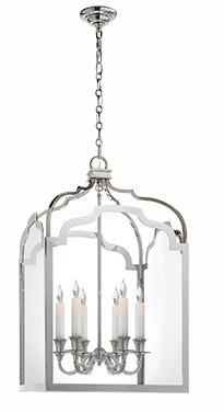 Medium Lantern in Polished Nickel