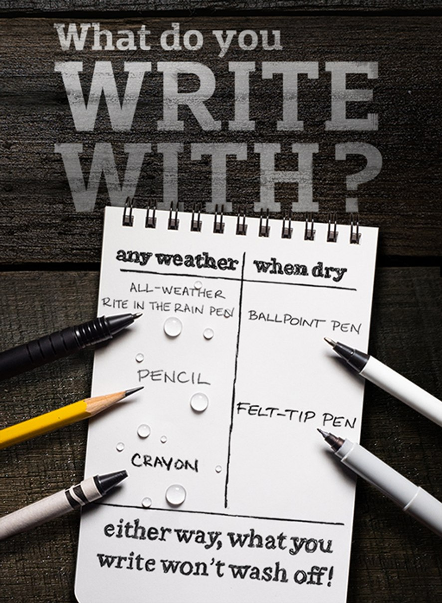 What do you write with?