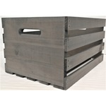 Large Weathered Grey Stained Crate