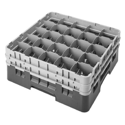 Cambro 25S534110 Camrack Glass Rack with 2 Extenders