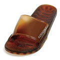 Zendals Sea Glass Slide Spa Sandal, Bark-Small