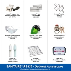 Sanitaire Model RS435 Optional Accessories
