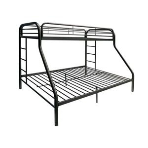 02052BK BLACK TWIN/QUEEN BUNK BED
