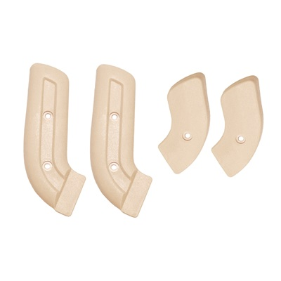 67-77 Bronco Seat Hinge Covers, Neutral