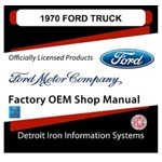 1970 Ford Truck & Van Factory Shop Manual, CD