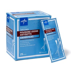 Povidone-Iodine Swabsticks - Medline Non-Sterile 4""