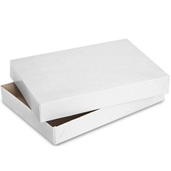 15 X 9.5 X 2 WHITE 2 PIECE APPAREL GIFT BOX, 100/CS