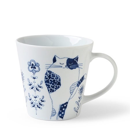 Blue Cats 8 oz. Mug Miyu