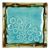 "*PLATE 4.5"" SQ BLUE BAMBOO"