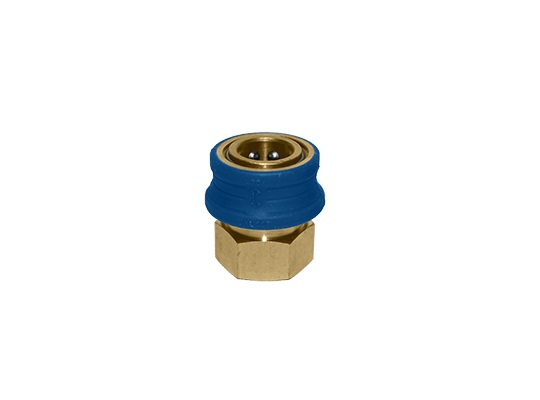 "MTM Hydro 3/8"" Insulated Female NPT Brass Quick Coupler"