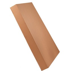 49 X 41 X 5 ECT32 KRAFT GAYLORD LID WITH INTERLOCKING CORNERS, 5/BD