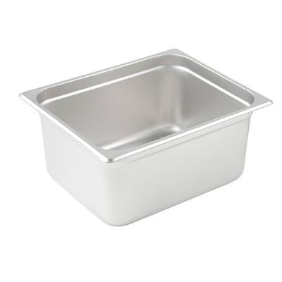 "Winco SPJP-206 Steam Table Pan 1/2 Size 6"" Deep"