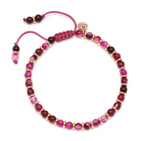 Lola Rose Notting Hill Bracelet, Pink Persian Agate with Gold