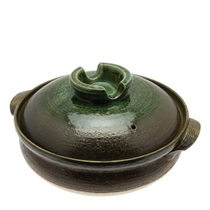 Donabe Casserole Earth Green 12""