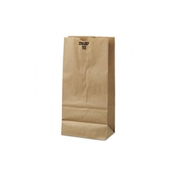 10# GROCERY BAG, 6-5/16 X 4-3/16 X 13-3/8, DURO