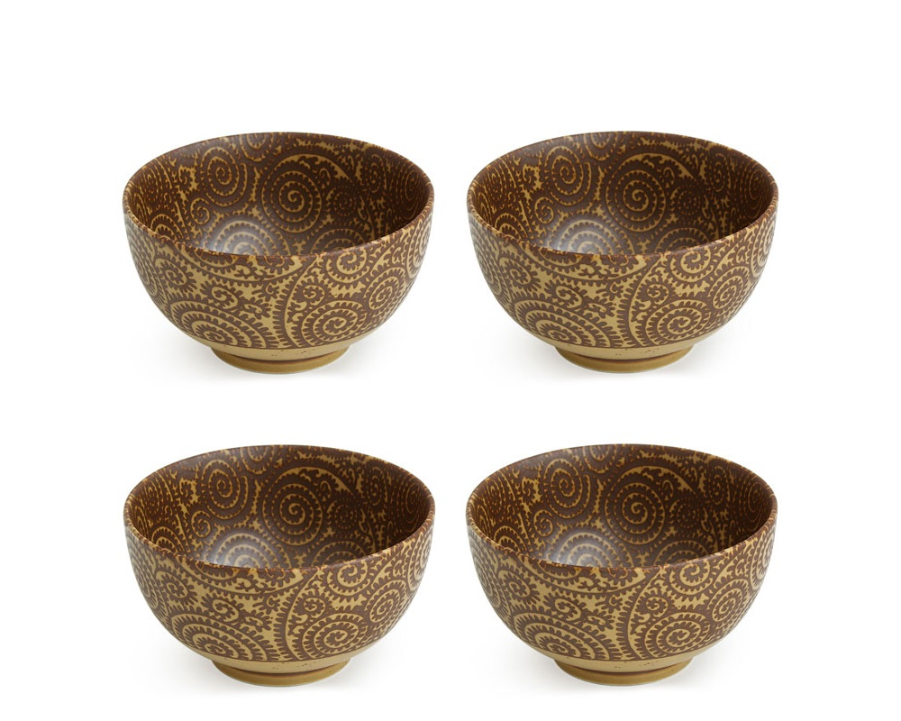 "Sepia Karakusa 5.25"" Bowl Set"