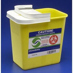 Yellow chemotherapy sharps container