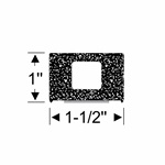 "1-1/2"" x 1"" Rectangular Peel-N-Stick"