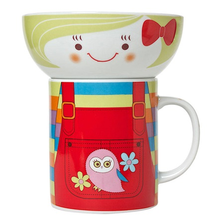 GIRL BOWL & MUG SET