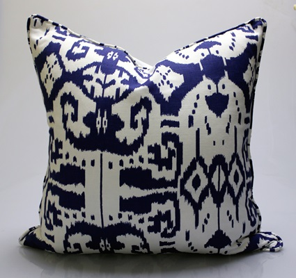 Navy Aztec Pillow