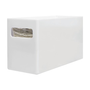 Vanity Paper Towel Holder, White Plastic
