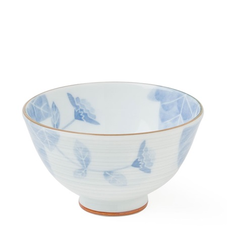 "Blue Flower 4.25"" Rice Bowl"