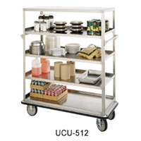 "Food Warming Equip UC-509 Queen Mary Utility Cart 24"" X 57"" Shelves"