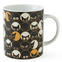 Cat Eyes 8 Oz. Mug - Black