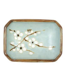 "Spring Blossoms 3.5"" X 2.5"" Sauce Dish"