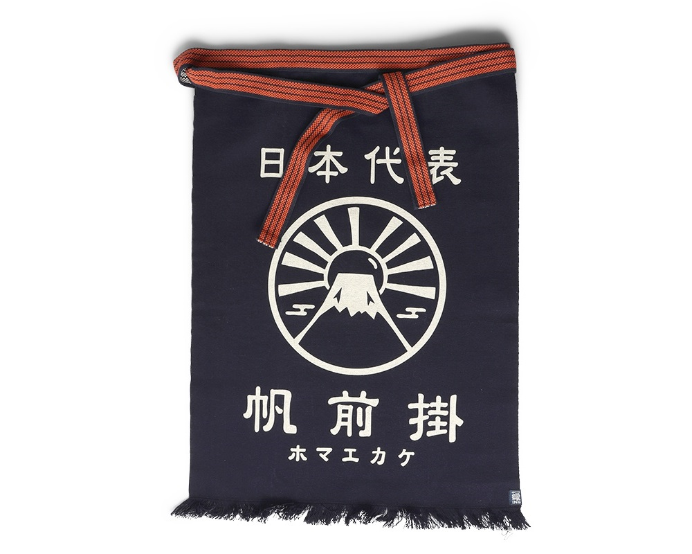 Maekake Canvas Apron - Mt Fuji