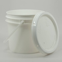 Pail, With Lid (1 Gal) - White